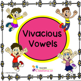 Vowels and Consonants - Vivacious Vowels Task Cards PLUS C