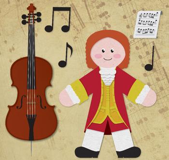 Vivaldi - Famous Composers Clip Art Set