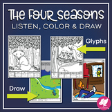 Vivaldi's The Four Seasons Listening Glyphs & Drawing Activities- now editable