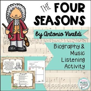 Vivaldi's 'The Four Seasons' - Biography & Listening Worksheet