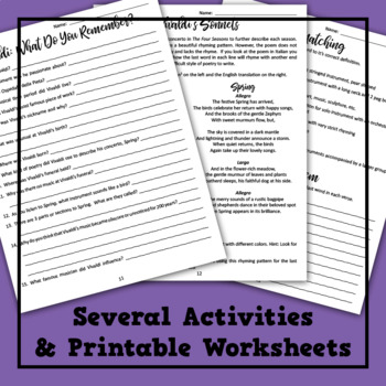 Vivaldi's Spring Lesson Plan