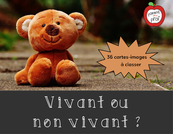Vivant ou non vivant (Living or Non-Living) - Sorting Activity (French Science)