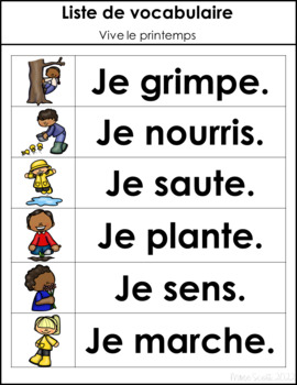 Vive le printemps - Primary French Activities