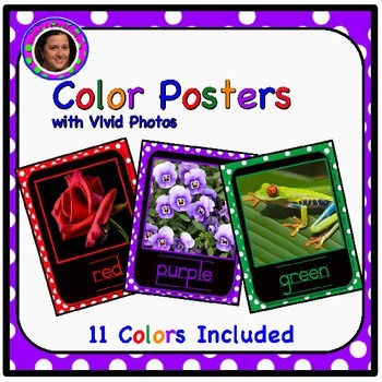 Vivid Color Posters with Polka Dot Backgrounds & Black Mats