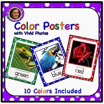 Vivid Color Posters with Polka Dot Backgrounds & White Mats