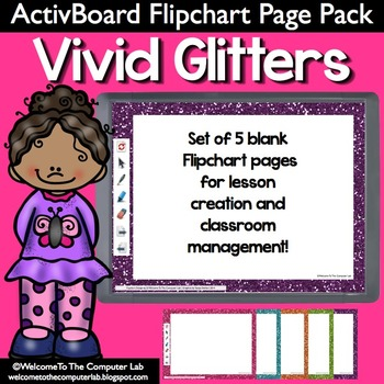 Vivid Glitter ActivBoard Flipchart Page Pack