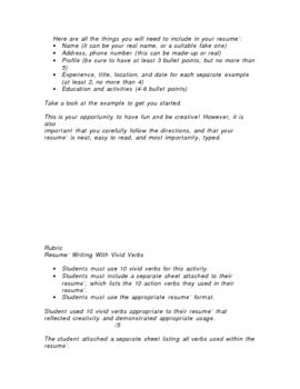 Vivid Verb Resume'