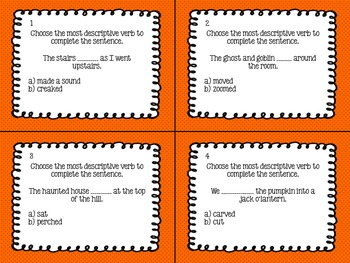 Vivid Verb Task Cards