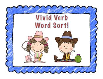 Vivid Verb Word Sort!