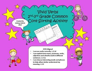 Vivid Verbs: 2nd-3rd Grade Common Core Sorting Activity