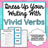 Vivid Verbs Games, Writing Prompts, Interactive Games, Common Core Aligned