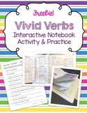 Vivid Verbs ~ FREE Interactive Notebook Activity & Practice