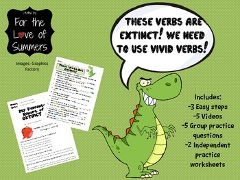 Vivid Verbs PowerPoint w/ video clips and 2 worksheets! FUN!