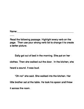 Vivid Verbs Practice