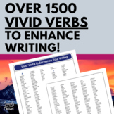 Vivid Verbs to Enhance Writing - Grades 6-12