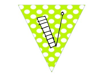 Vivid Vocabulary Pennant Banner and Words Poster