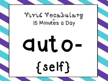 {auto-} Greek and Latin Roots in 15 Minutes a Day! {auto-}