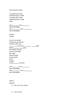 Vivir Mi Vida - Marc Anthony Lyrics and Activity