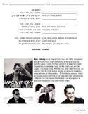 Vivir Mi Vida - Marc Anthony Worksheet and Test