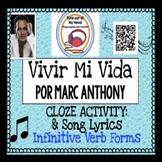 Vivir Mi Vida Por Marc Anthony Spanish Song Cloze Activity - Song Lyrics - Verbs