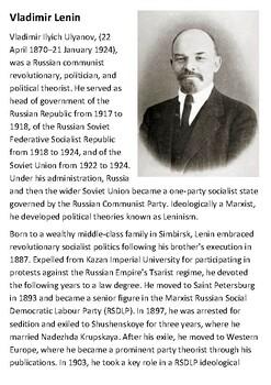 Vladimir Lenin  Handout