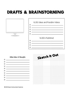 Vlog and Blog Planner
