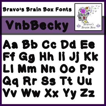 VnbBecky Font