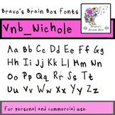 Vnb_Nichole Font