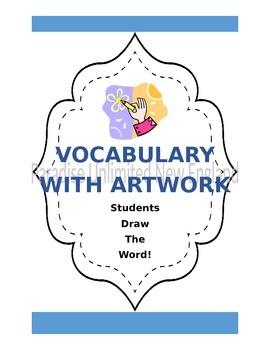 Vocabulary Graphic Organizer with Artwork