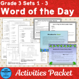 Vocabulary Cards Grade 3 Sets 1 - 3 Plus Games and Activit