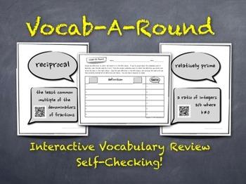 Vocab-A-Round: Unique, Kinesthetic Way to Review Math Voca