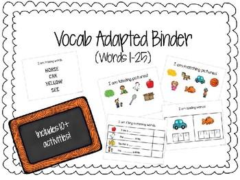 Sight Word Adapted Binder