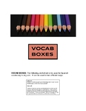 Vocab Boxes