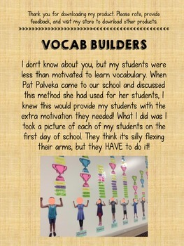Vocab Builders- (K-8) Increase Vocabulary Motivation in Your Students!