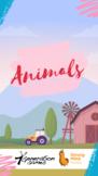 Vocab Cards: Animal Names In Spanish