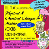 Physical & Chemical CHANGES in MATTER Vocab MatchUP & Word Wall CARDS