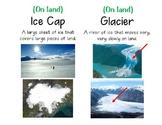 Vocab Cards - Glacier, Iceberg, Ice Cap