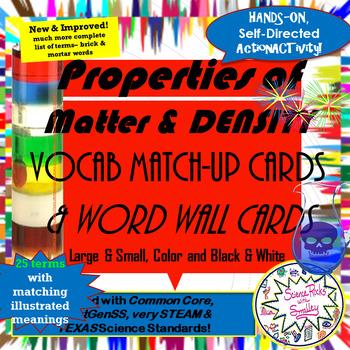 Properties of Matter Vocab Match-Up Cards