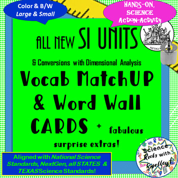 Science Measurement & SI UNITS Vocab Match-UP Cards + lots of FREEBIES!