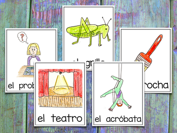 Vocab Cards - Spanish Consonant Blends ~ Banco de Palabras Grupos Consonánticos