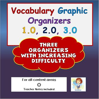 Vocabulary Graphic Organizers 1.0, 2.0, 3.0 BUNDLE