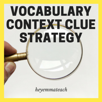 Vocabulary Context Clue Strategy