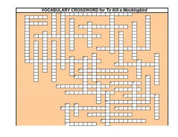 Vocab Crsswrd for To Kill a Mockingbird (B)