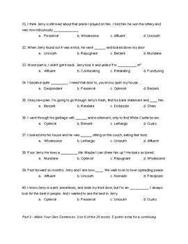 Vocab Exam
