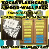 Vocab Flashcard & Word Wall Pack for Chemistry Safety, Process, and Measurement