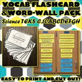 Vocab Flashcard & Word Wall Pack for Chemistry Science TEKS Unit 9 & 10