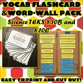 Vocab Flashcard & Word Wall Pack for Eighth Grade Science TEKS Unit 4 Part 2