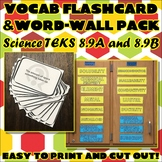 Vocab Flashcard & Word Wall Pack for Eighth Grade Science TEKS Unit 5 Part 2