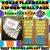 Vocab Flashcard & Word Wall Pack for Fifth Grade Science TEKS Unit 2