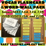 Vocab Flashcard & Word Wall Pack for Seventh Grade Science TEKS Unit 2